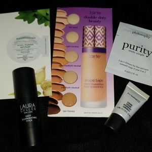 Gently used makeup and new make up samples.